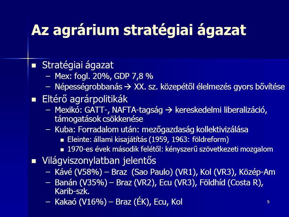 Az agrárium stratégiai ágazat