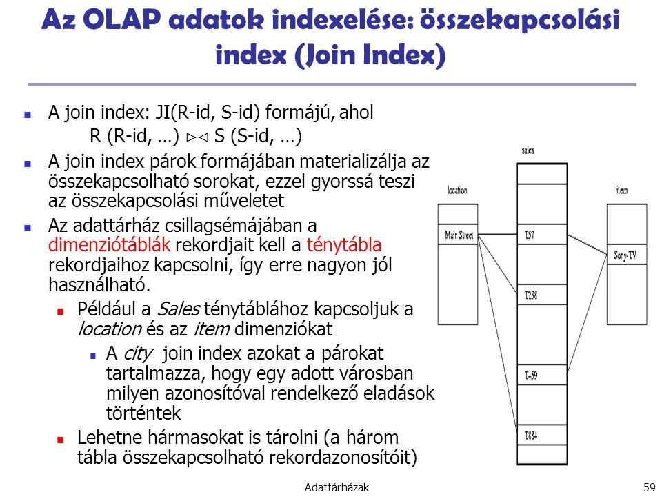 Az OLAP adatok indexelése: összekapcsolási index (Join Index)