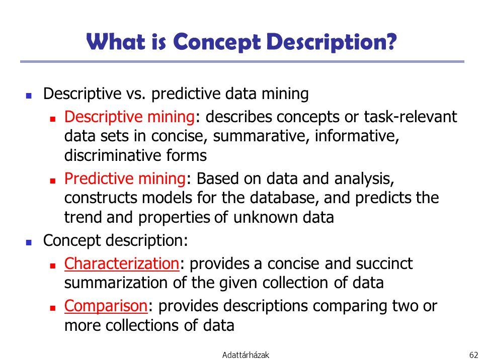 What is Concept Description