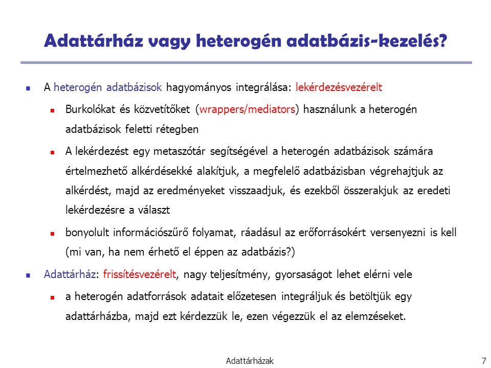 Adattárház vagy heterogén adatbázis-kezelés