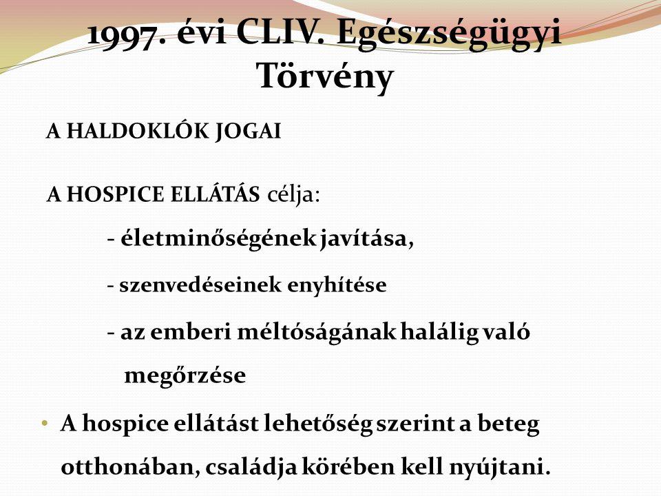 1997. évi CLIV. Egészségügyi Törvény