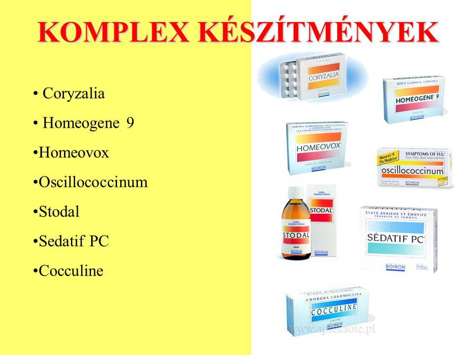 KOMPLEX KÉSZÍTMÉNYEK Coryzalia Homeogene 9 Homeovox Oscillococcinum