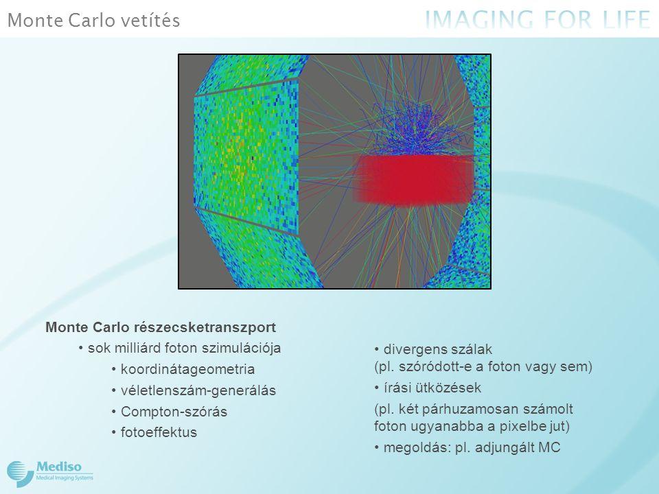 Monte Carlo vetítés Monte Carlo részecsketranszport