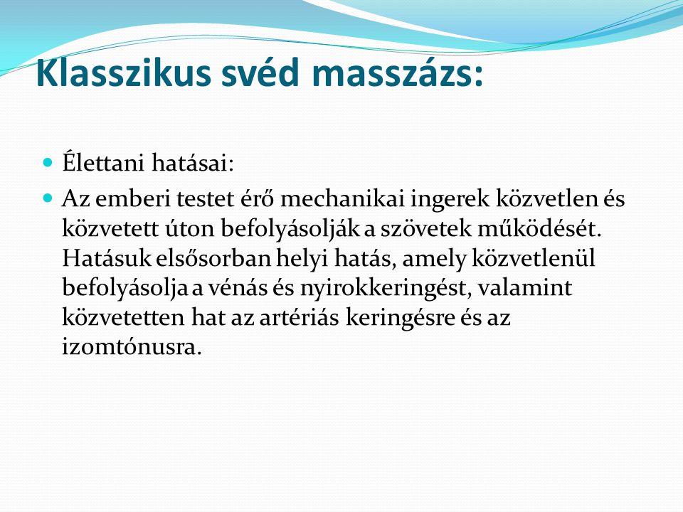 Klasszikus svéd masszázs: