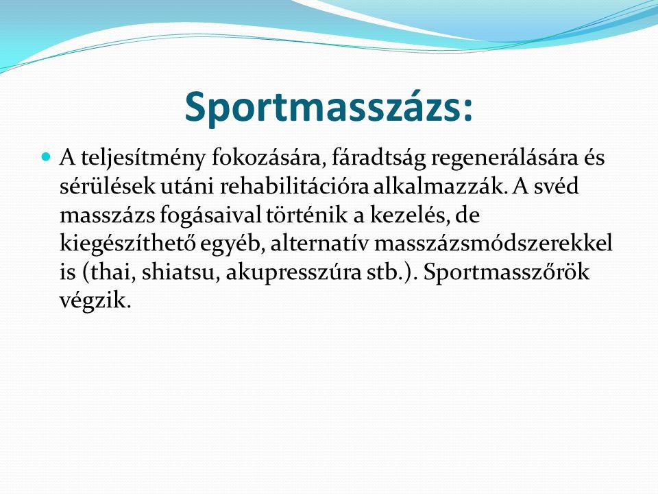 Sportmasszázs: