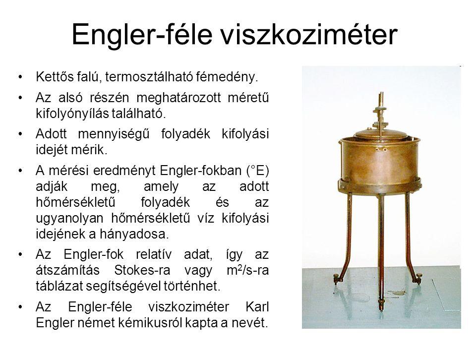 Engler-féle viszkoziméter