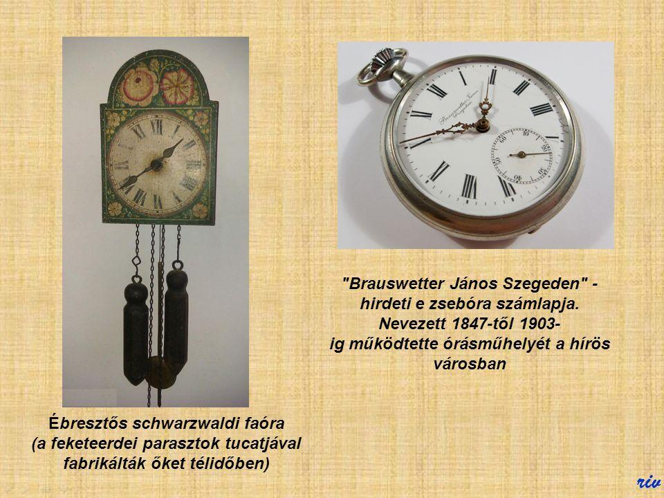 Brauswetter János Szegeden - hirdeti e zsebóra számlapja. Nevezett 1847-től 1903-ig működtette órásműhelyét a hírös városban.