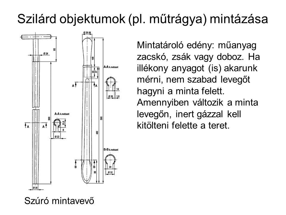 Szilárd objektumok (pl. műtrágya) mintázása