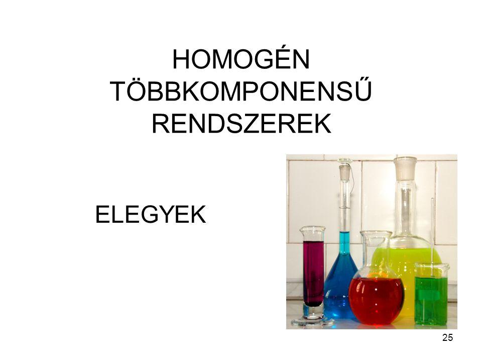 HOMOGÉN TÖBBKOMPONENSŰ RENDSZEREK