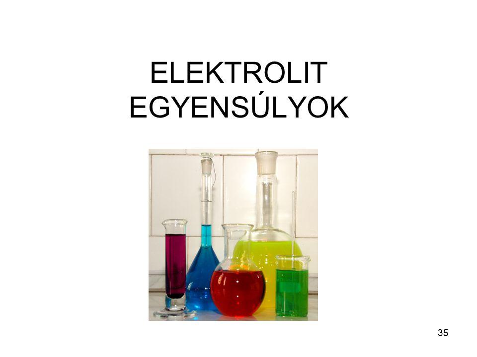 ELEKTROLIT EGYENSÚLYOK