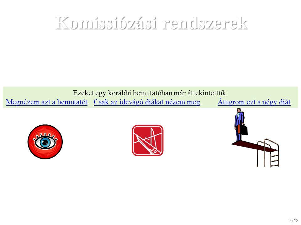 Komissiózási rendszerek