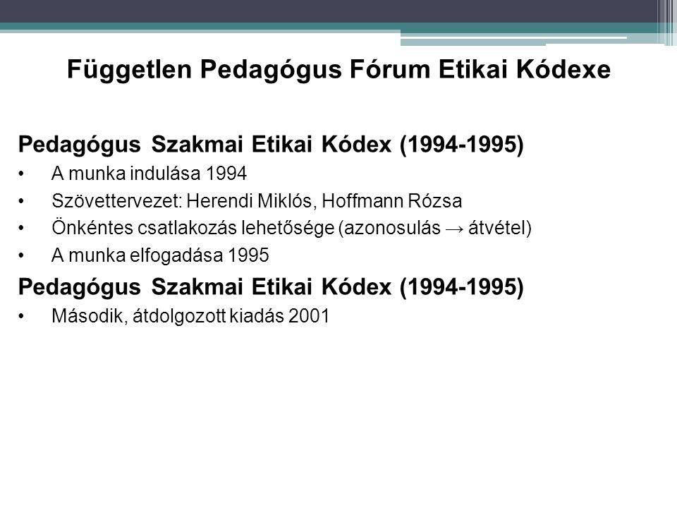 Független Pedagógus Fórum Etikai Kódexe