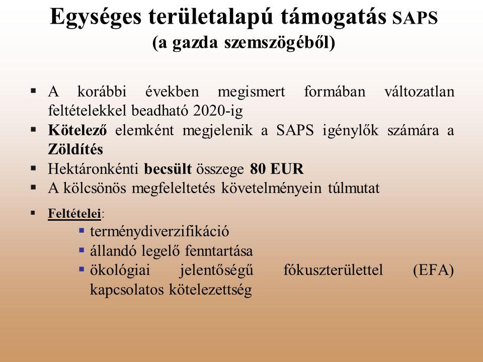 Egységes területalapú támogatás SAPS (a gazda szemszögéből)