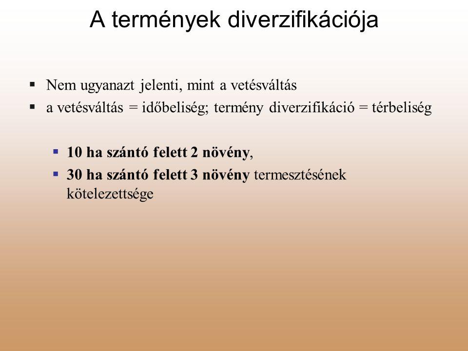 A termények diverzifikációja