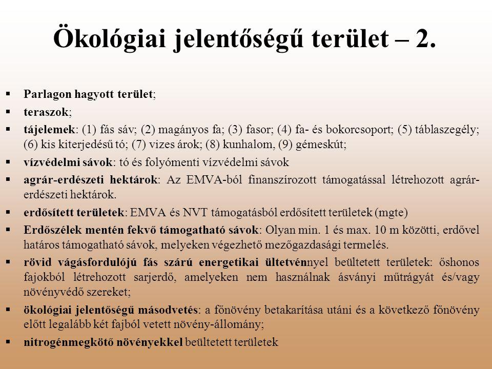 Ökológiai jelentőségű terület – 2.