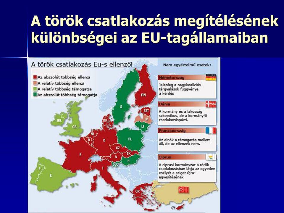 A török csatlakozás megítélésének különbségei az EU-tagállamaiban