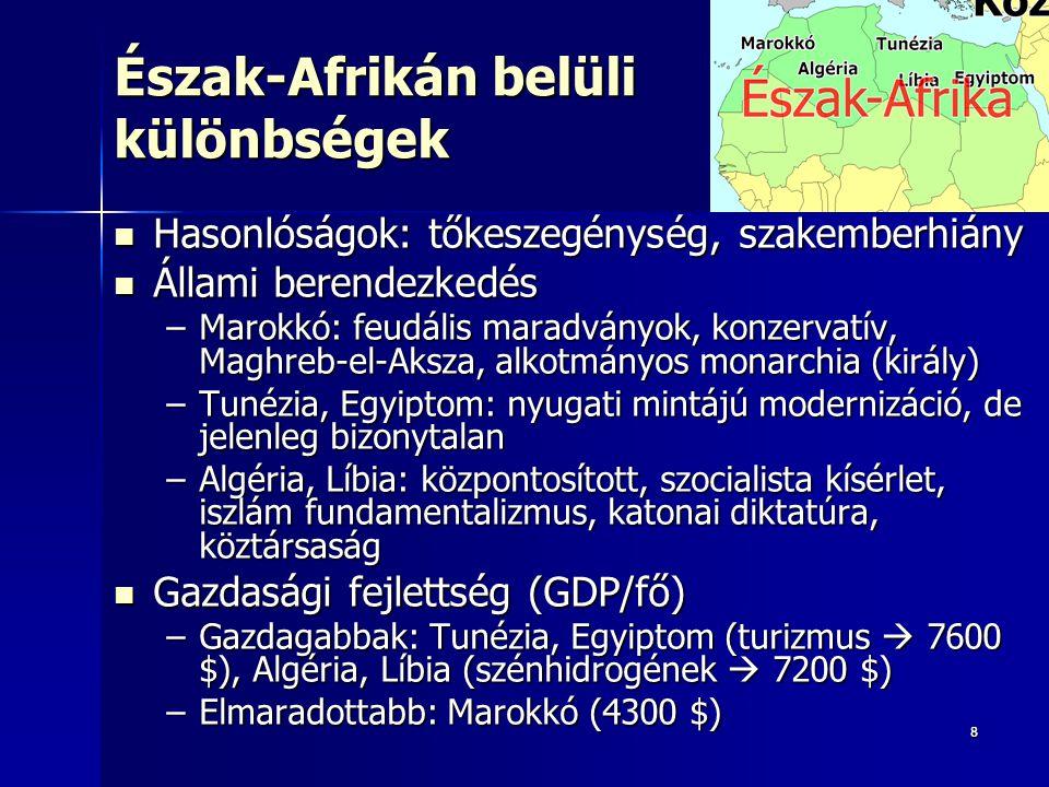 Észak-Afrikán belüli különbségek