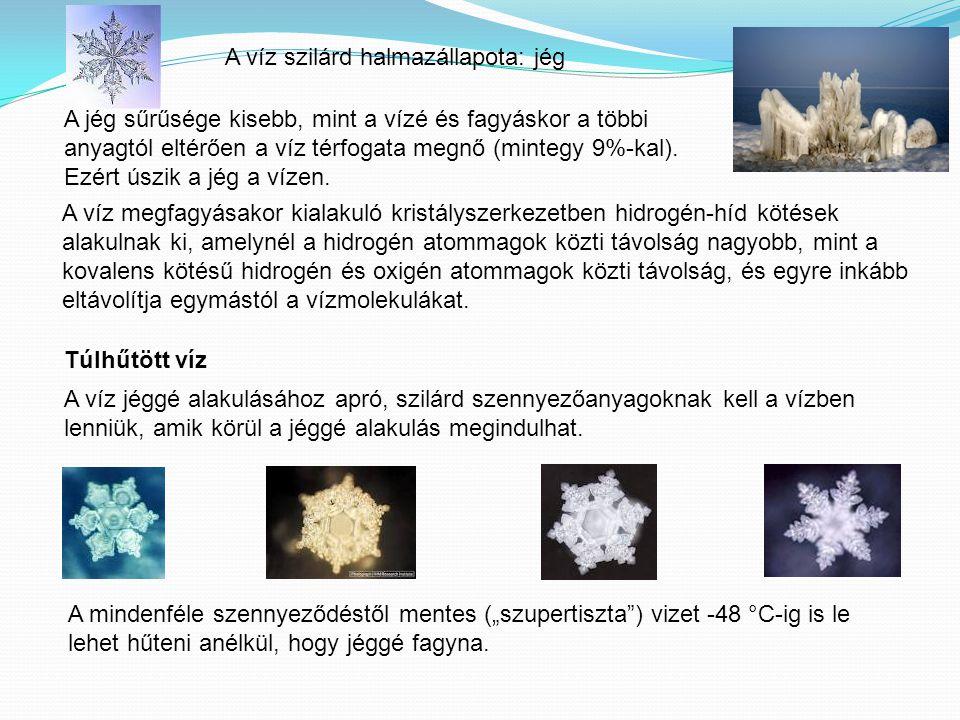 A víz szilárd halmazállapota: jég