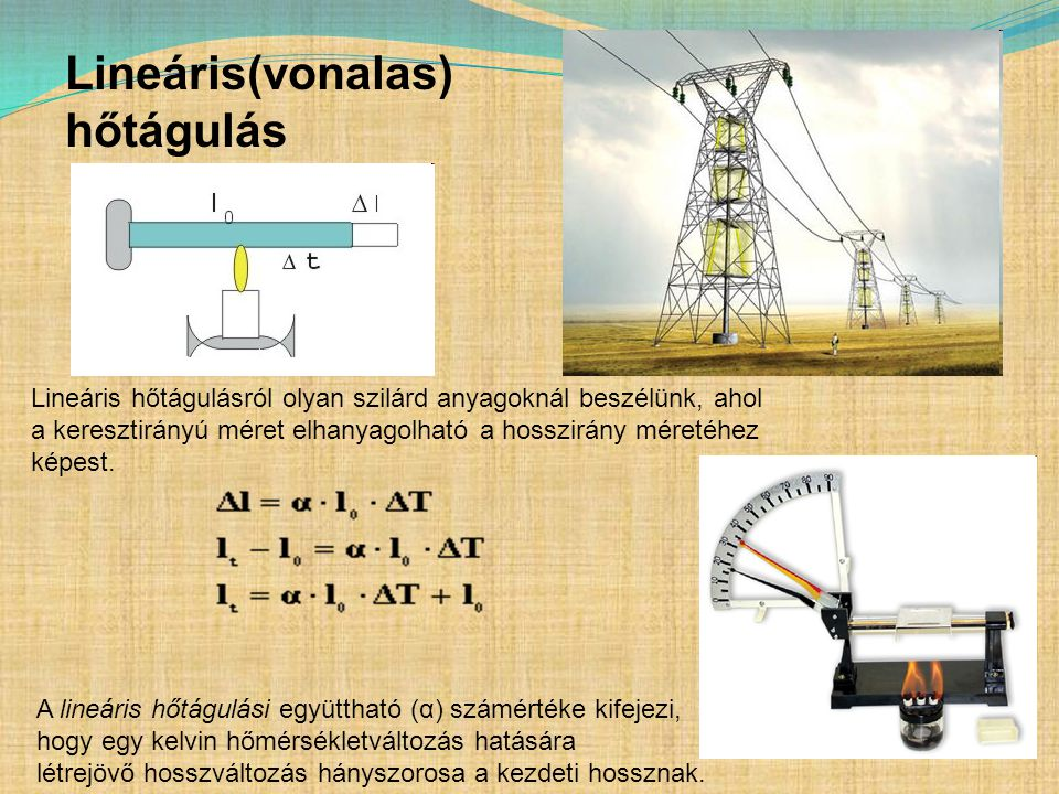 Lineáris(vonalas) hőtágulás