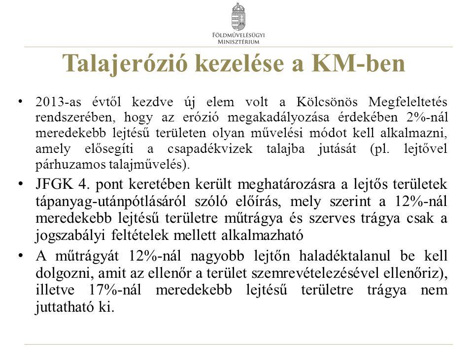 Talajerózió kezelése a KM-ben