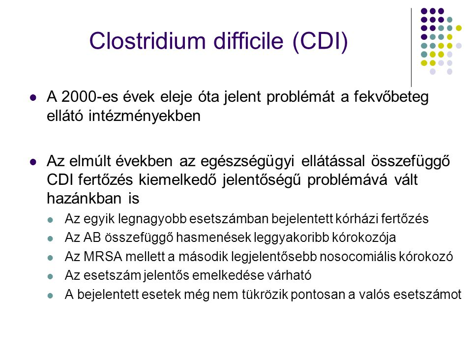 Clostridium difficile (CDI)