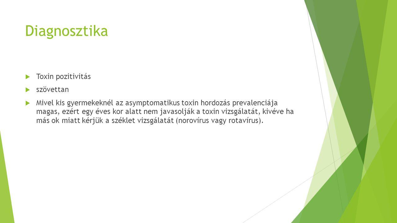 Diagnosztika Toxin pozitivitás szövettan