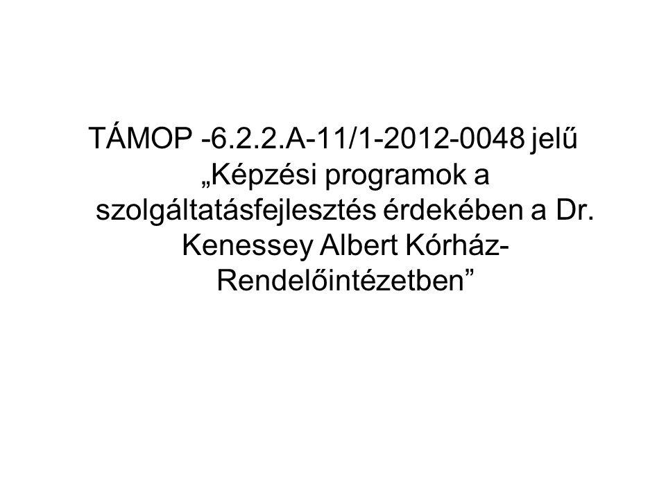 """TÁMOP -6.2.2.A-11/1-2012-0048 jelű """"Képzési programok a szolgáltatásfejlesztés érdekében a Dr."""