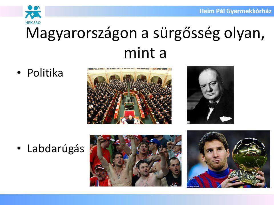 Magyarországon a sürgősség olyan, mint a