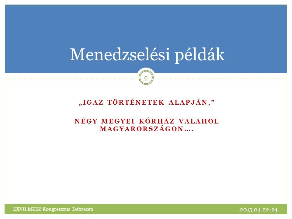 """""""IGAZ történetek alapján, Négy megyei kórház valahol Magyarországon…."""