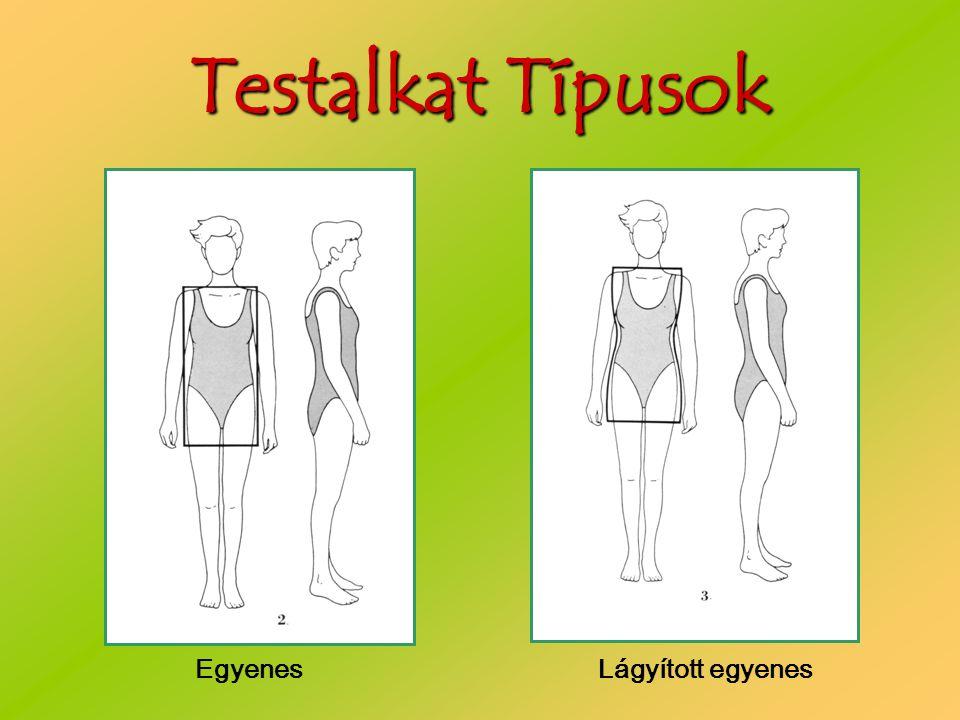 Testalkat Típusok Egyenes Lágyított egyenes