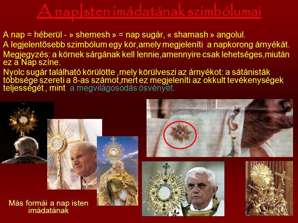 A napIsten imádatának szimbólumai