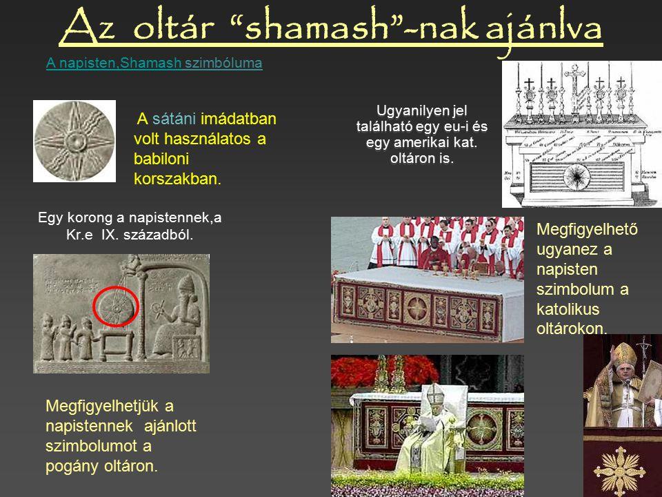 Az oltár shamash -nak ajánlva