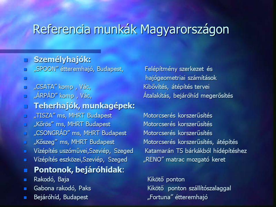 Referencia munkák Magyarországon