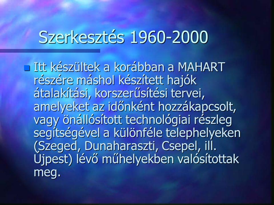Szerkesztés 1960-2000