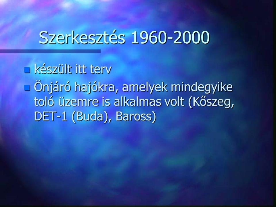 Szerkesztés 1960-2000 készült itt terv