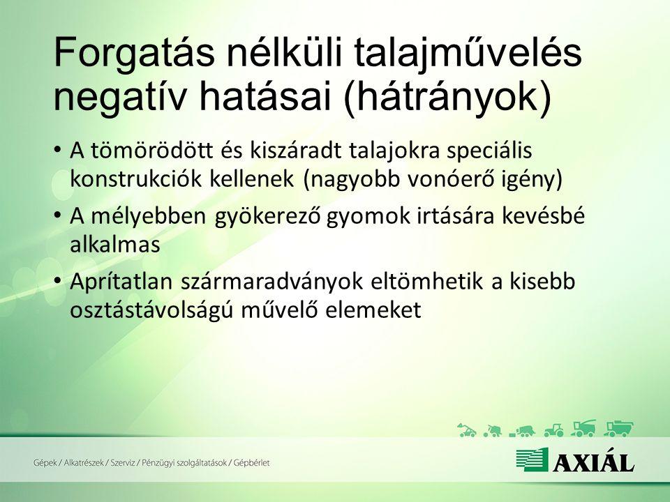 Forgatás nélküli talajművelés negatív hatásai (hátrányok)