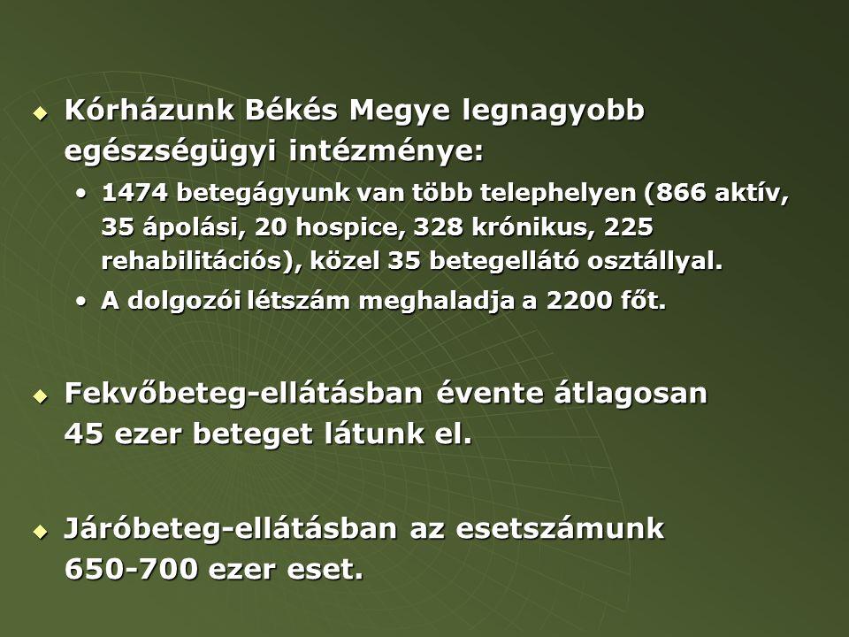 Kórházunk Békés Megye legnagyobb egészségügyi intézménye: