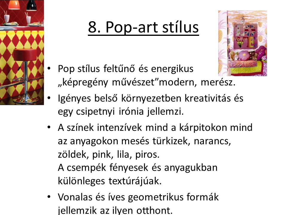 """8. Pop-art stílus Pop stílus feltűnő és energikus """"képregény művészet modern, merész."""
