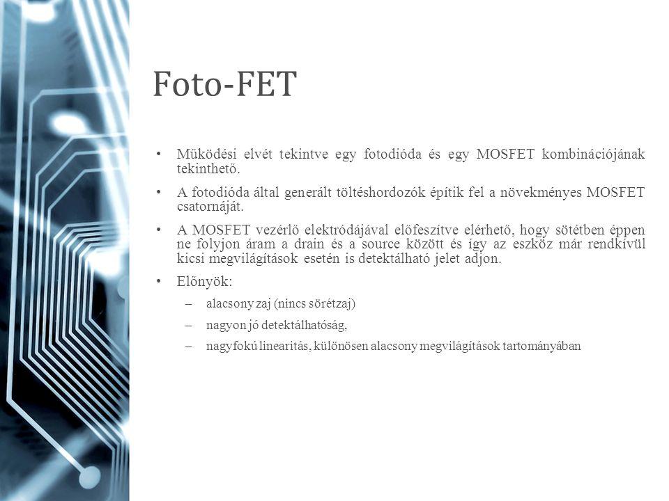 Foto-FET Működési elvét tekintve egy fotodióda és egy MOSFET kombinációjának tekinthető.