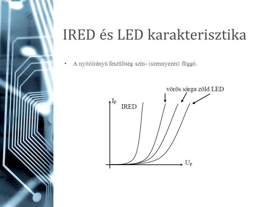 IRED és LED karakterisztika