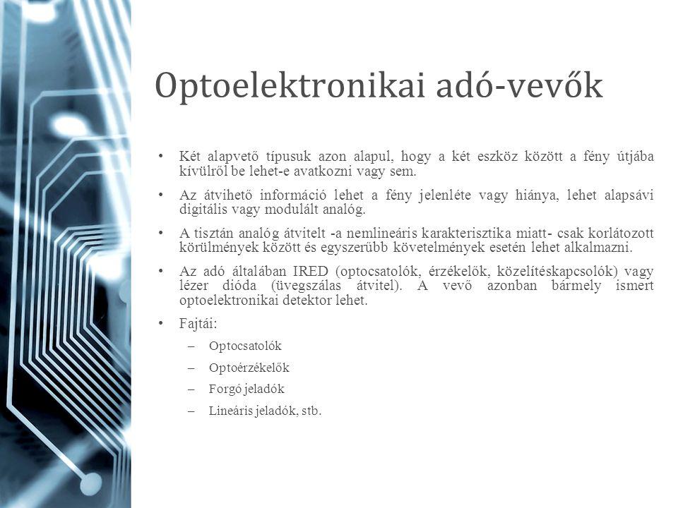 Optoelektronikai adó-vevők