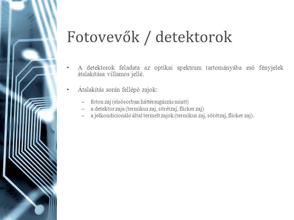 Fotovevők / detektorok