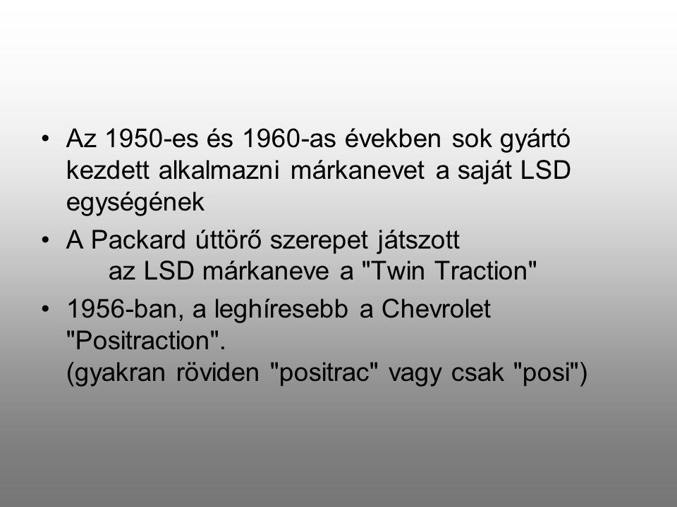 Az 1950-es és 1960-as években sok gyártó kezdett alkalmazni márkanevet a saját LSD egységének