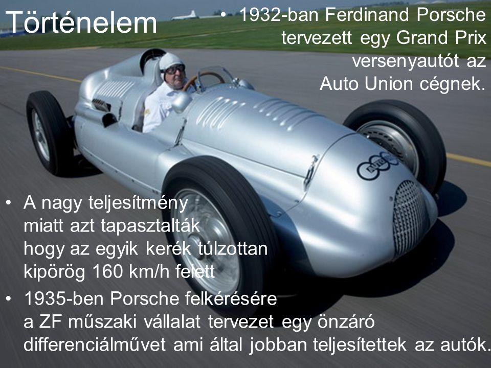 Történelem 1932-ban Ferdinand Porsche tervezett egy Grand Prix versenyautót az Auto Union cégnek.