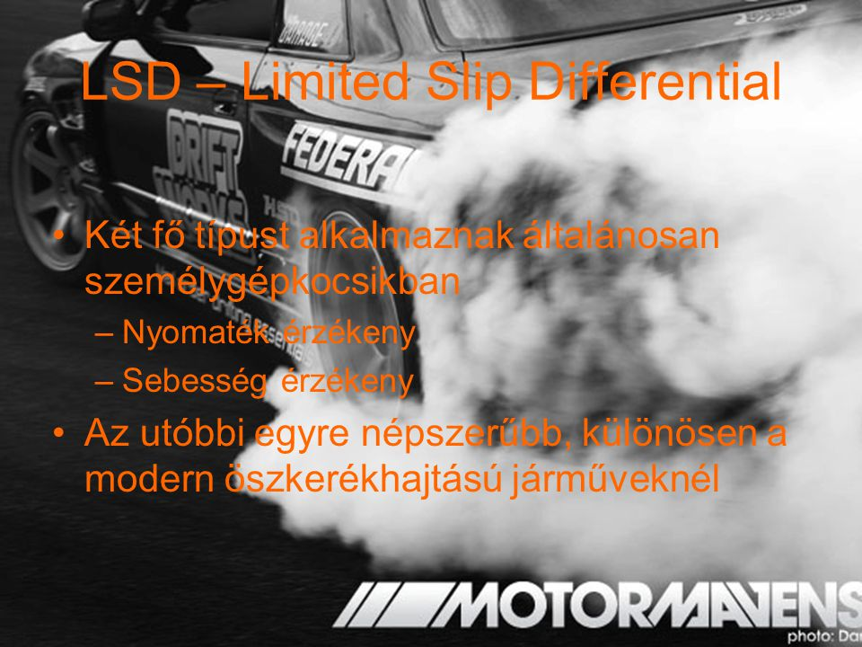 LSD – Limited Slip Differential