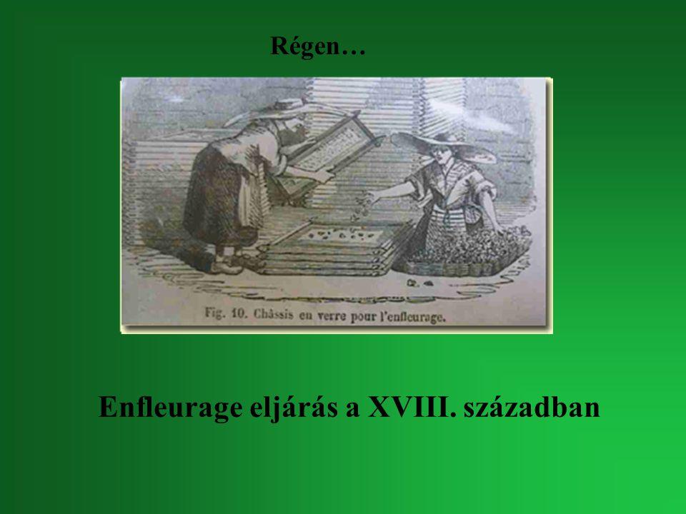Enfleurage eljárás a XVIII. században