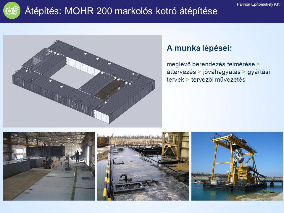 Átépítés: MOHR 200 markolós kotró átépítése