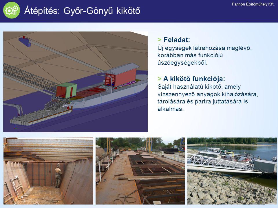 Átépítés: Győr-Gönyű kikötő