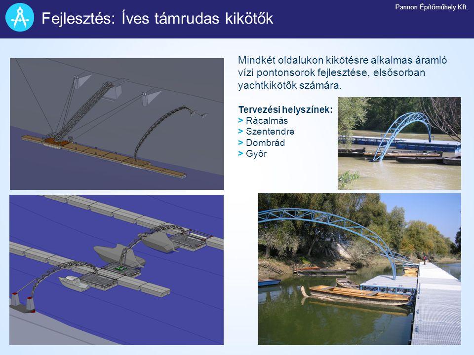 Fejlesztés: Íves támrudas kikötők