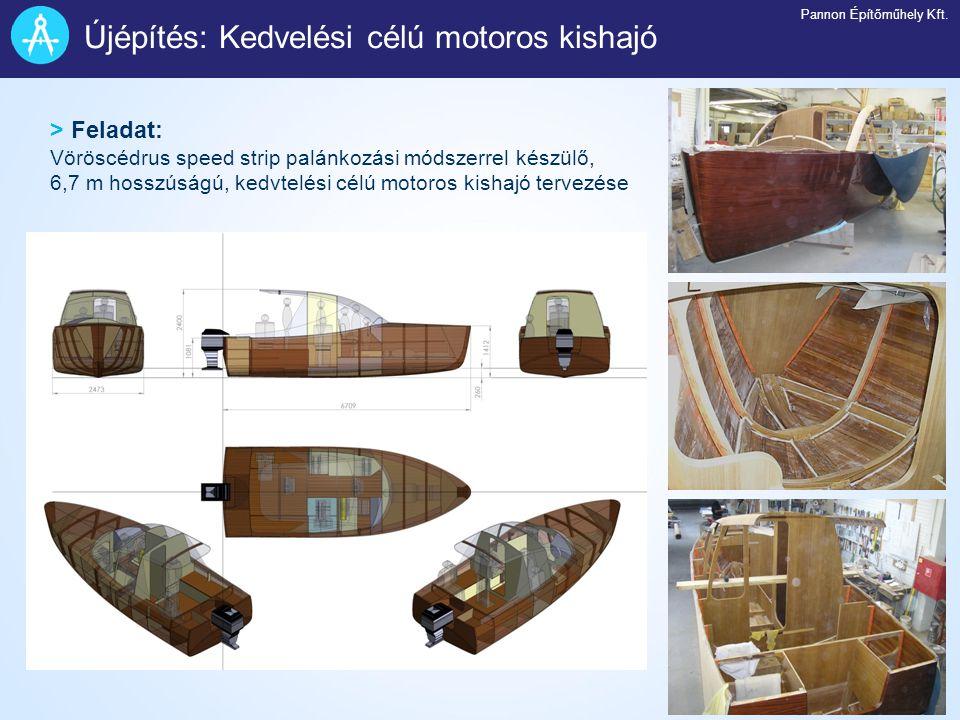 Újépítés: Kedvelési célú motoros kishajó
